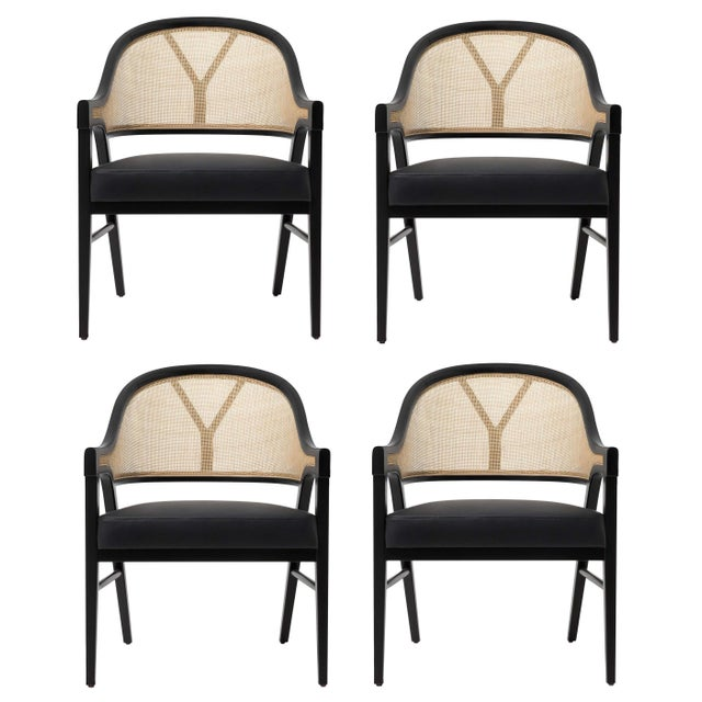 Wood Paulo Antunes Contemporary Dining Chairs in Cane and Solid Wood - Set of 4 For Sale - Image 7 of 7
