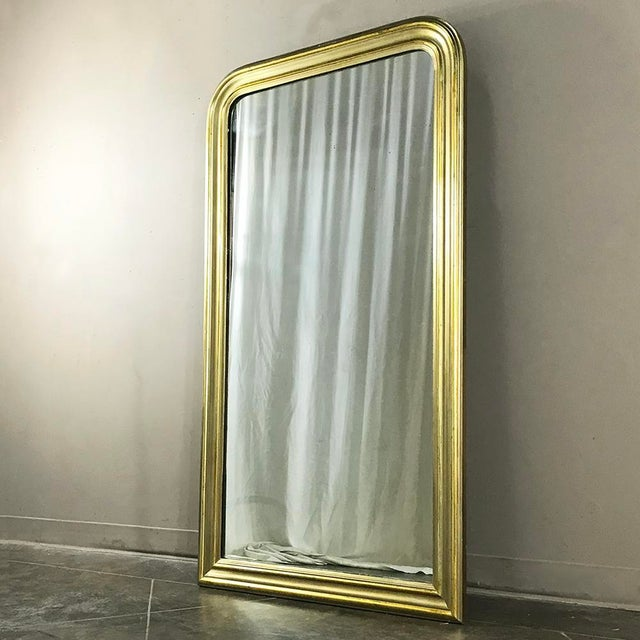 Wood 19th Century French Louis Philippe Gilded Mirror For Sale - Image 7 of 9