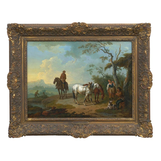 Italian 18th Century Antique Landscape Paintings Attr. To Pieter Van Bloemen - a Pair For Sale - Image 3 of 13