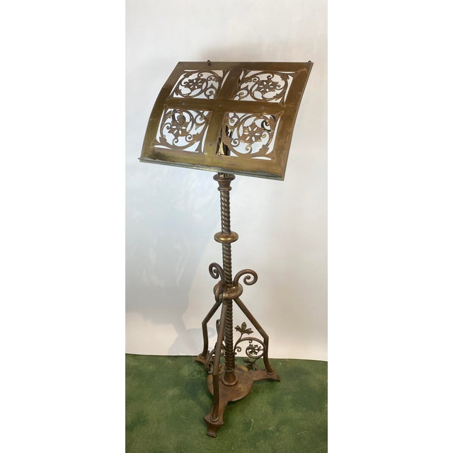 This Nineteenth Century ornate Brass music stand or lectern is such a substantial piece. It is executed perfectly with...