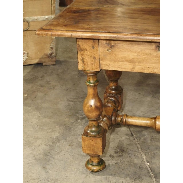 17th Century Basque Country Writing Table With Inset Star For Sale - Image 4 of 13