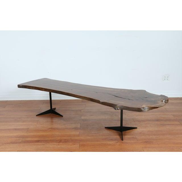 Solid Walnut Wood Slab Coffee Table - Image 3 of 10