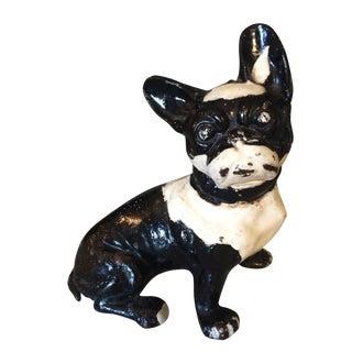 Vintage Cast Iron Boston Terrier For Sale
