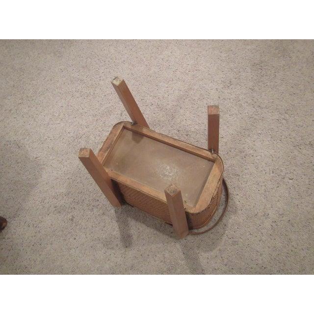 Vintage Picnic Basket Side Table - Image 10 of 11