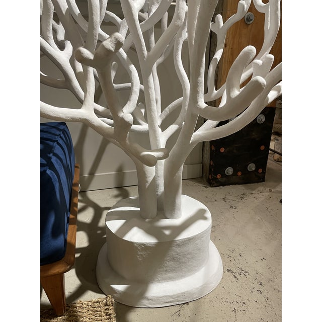 Bought at Paris flea market. Organic coral shaped base. Made with paper mache and enforced with metal and wood. Top...