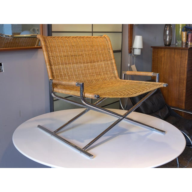 Ward Bennett Woven Sled Chrome Chair For Sale - Image 12 of 12
