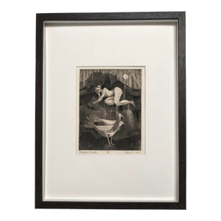 """1960s Vintage """"Nature Walk"""" Framed Print For Sale"""