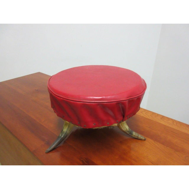 Antique Steer Cow Horn Footstool For Sale - Image 9 of 9