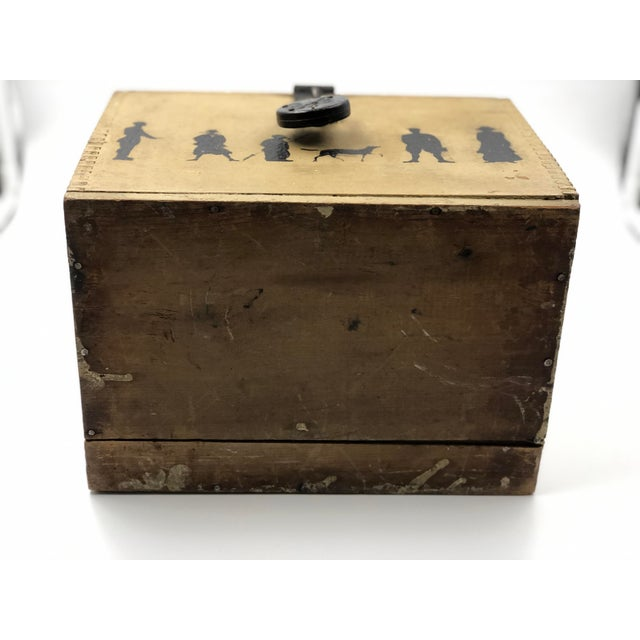 19th Century Silhouette Painted Wooden Box For Sale - Image 11 of 13