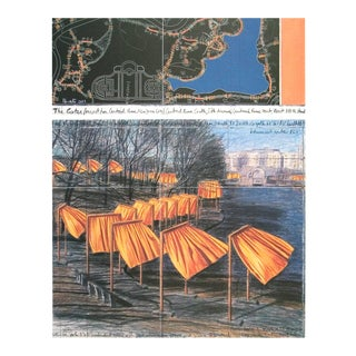 "Javacheff Christo Project for the Gates VIII 39.25"" X 27.5"" Poster 2003 Contemporary For Sale"