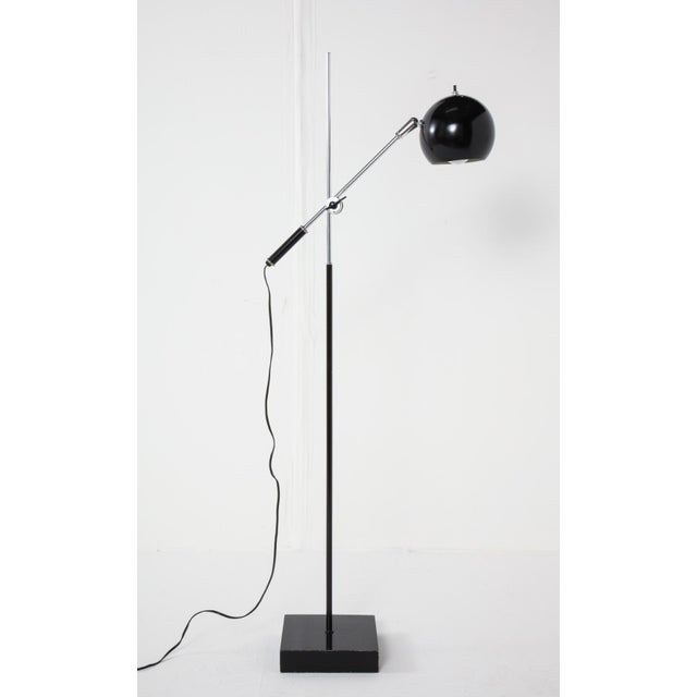 Mid-Century Chrome and Black Adjustable Floor Lamp For Sale - Image 12 of 12