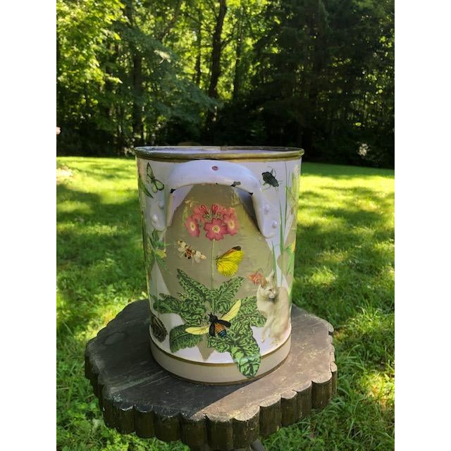 1990s Flora and Fauna Antique French Metal Bucket For Sale - Image 5 of 10
