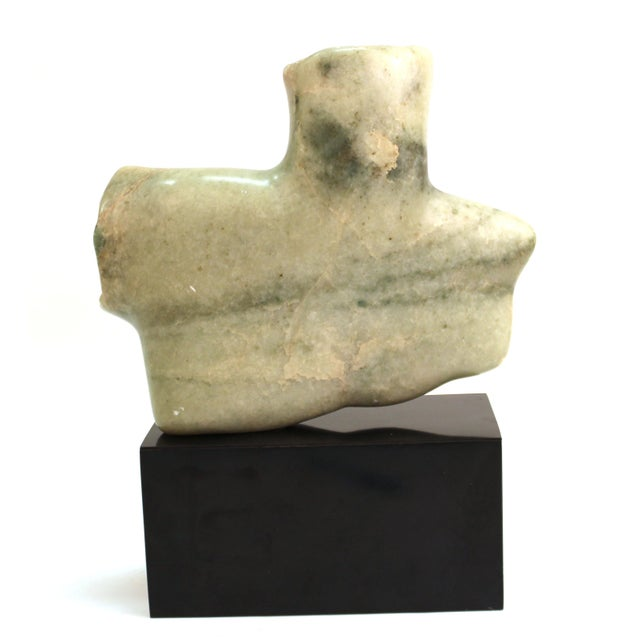 Mid-Century Modern Abstract Carved Stone Female Bust Sculpture For Sale - Image 4 of 11