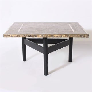 Italian Marble Coffee Table With Black Base, C. 1941 Preview