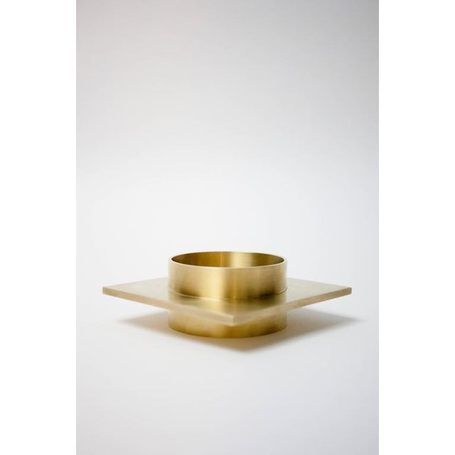 Contemporary Modern Contemporary 001 Ashtray Dish in Brass by Orphan Work For Sale - Image 3 of 5