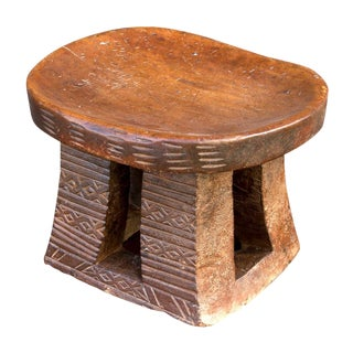 Rustic 20th Century Dogon Stool For Sale