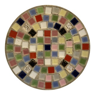 Mid Century Multi-colored Tile Trinket Dish For Sale