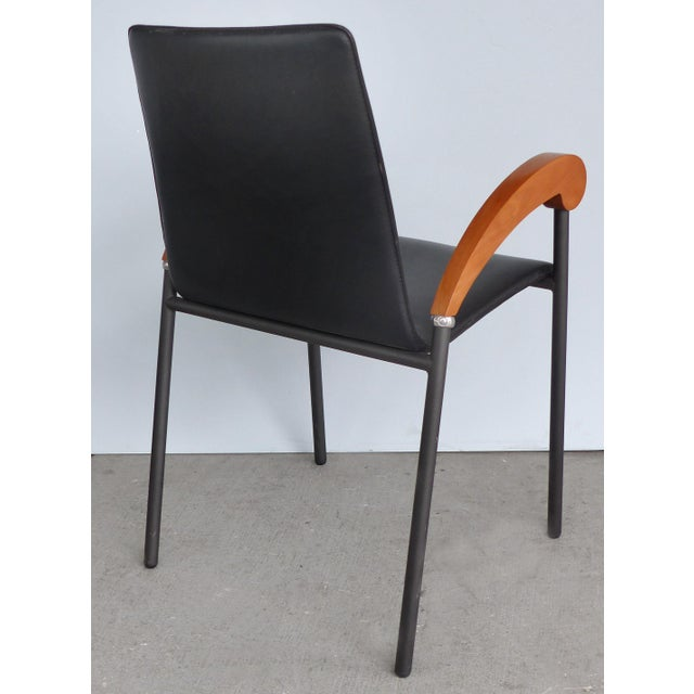 2000 - 2009 Metal , Wood & Leather Armchairs for Xo Design-Set of 4 For Sale - Image 5 of 9