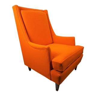 Milo Baughman for James Inc. Orange Lounge Chair For Sale