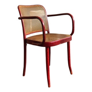 Vintage Hand Caned Bentwood Chair For Sale