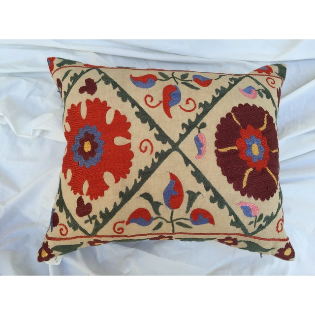 Antique Embroidered Suzani Pillow - Image 3 of 6