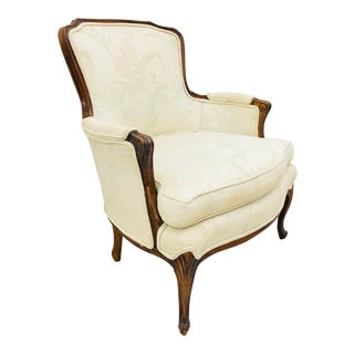 Vintage French Bergere Chair For Sale