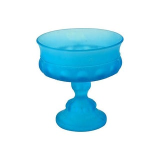 Frosted Glass Pedestal Bowl