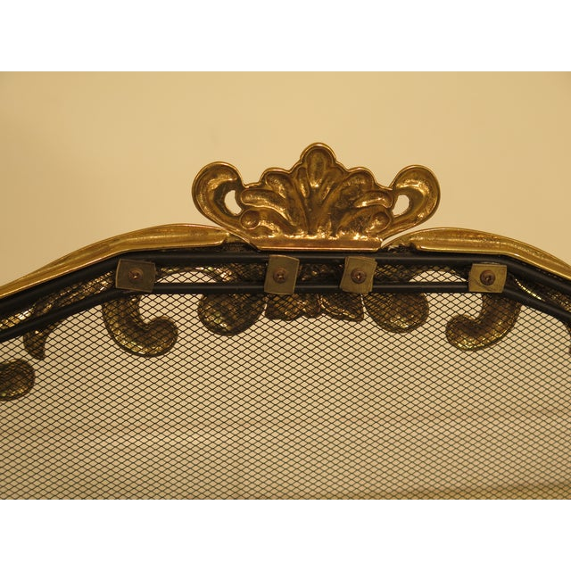 Brass French Louis XV Style Brass Folding Firescreen For Sale - Image 7 of 10