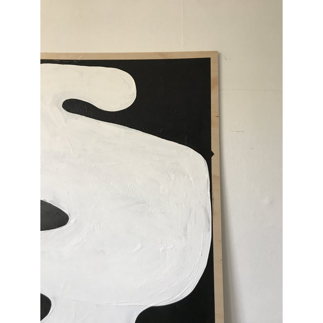Hannah Polskin Abstract Butterfly Monochrome Diptych - 2 Pieces For Sale - Image 4 of 10
