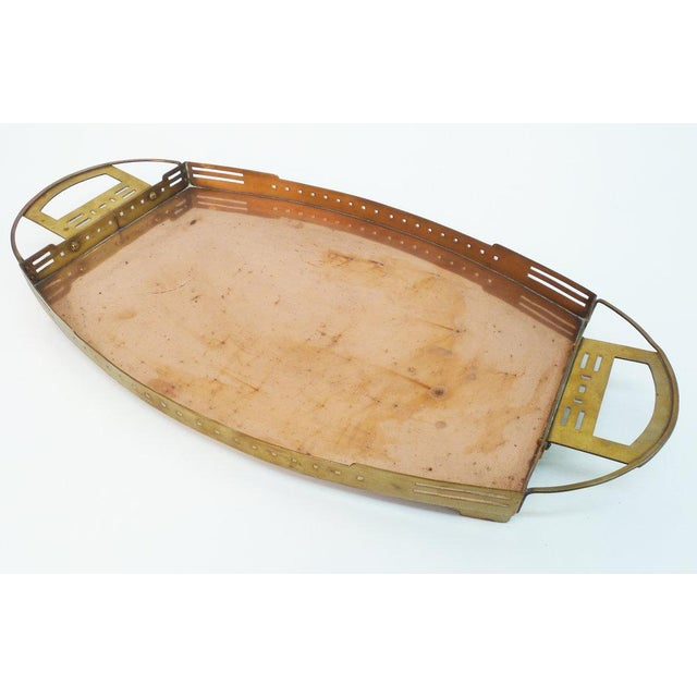 Art Nouveau A Brass and Copper Tray by Serrurier-Bovy For Sale - Image 3 of 7