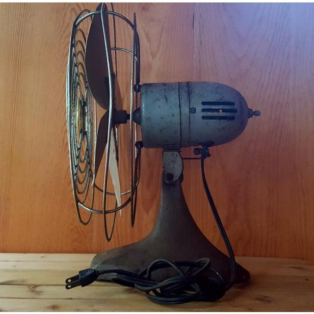 1950s Vintage Manning Bowman Industrial Fan For Sale - Image 5 of 8