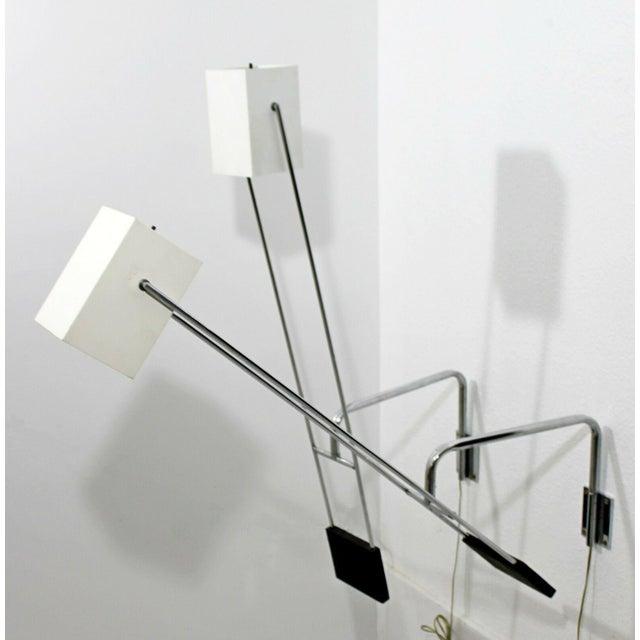 Mid Century Modern Pair Sonneman Adjustable Chrome Light Fixtures Sconces- A Pair For Sale - Image 4 of 8
