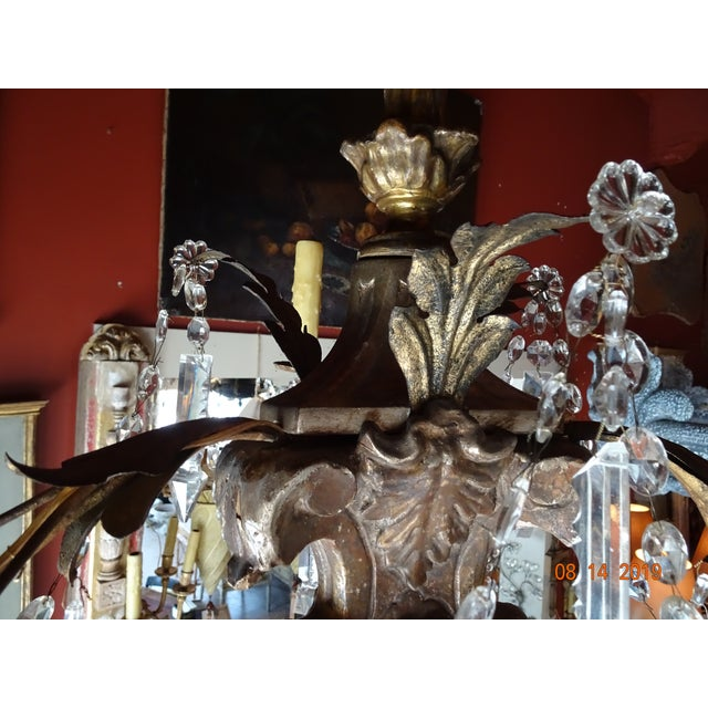 19th Century Italian Crystal Chandelier For Sale - Image 4 of 13