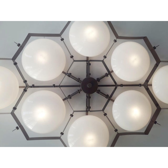 White Beehive Flush Mount by Fabio Ltd For Sale - Image 8 of 11