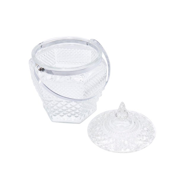 Anchor Hocking Wexford Crystal Ice Buckets by Anchor Hocking - a Pair For Sale - Image 4 of 8