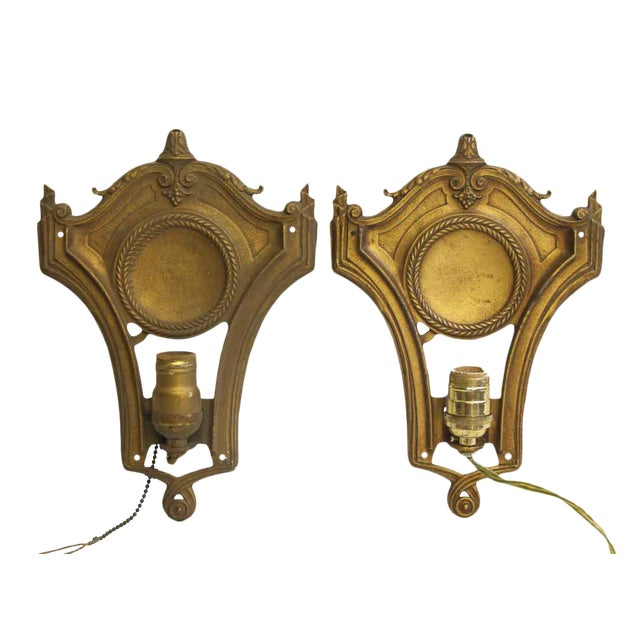 Federal Style Gold Sconces - A Pair For Sale