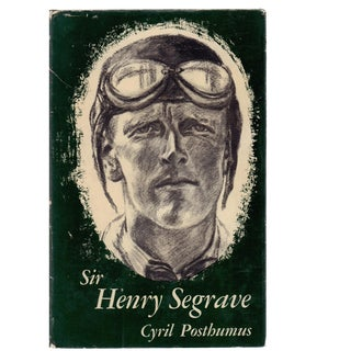 "1961 ""Sir Henry Segrave"" Collectible Book For Sale"