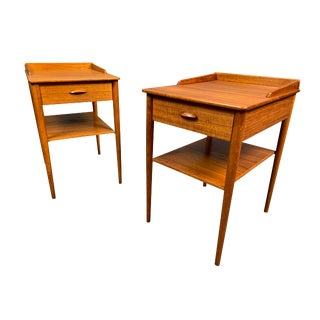 Pair of Vintage Danish Mid Century Modern Teak Side Tables by Erik Andersson For Sale