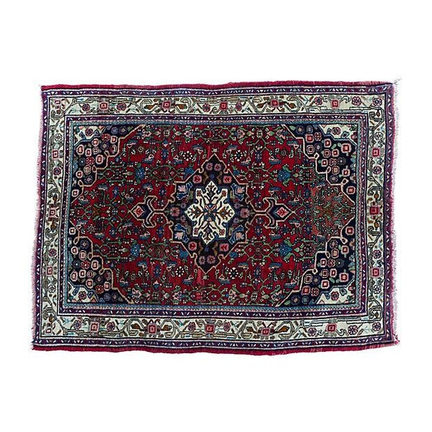 "Persian Bijar Rug - 4'10"" X 3'5"" For Sale"