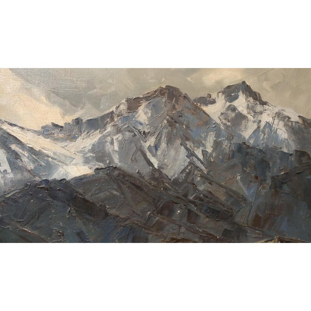 Bennett Bradbury -California Mountain Landscape- Impressionist Oil Painting -C1940s For Sale In Los Angeles - Image 6 of 10