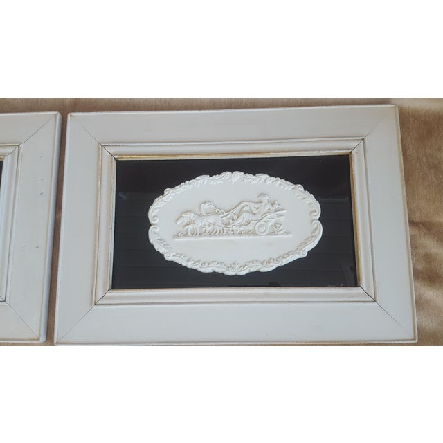 Vintage Neoclassical Framed Intaglios - a Pair For Sale - Image 12 of 13