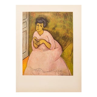 """1954 Raoul Dufy, """"Woman in Rose"""" First Edition Lithograph For Sale"""