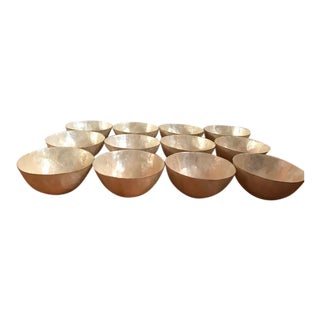 Mother-Of-Pearl Serving Bowls - Set of 12