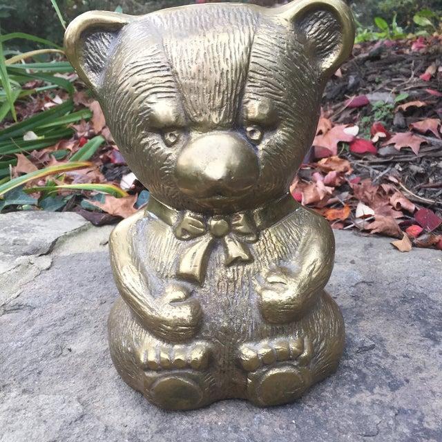 Vintage Large Brass teddy bear