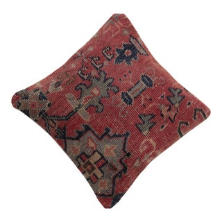 Decorative Vintage Oushak Rug Pillow Cover For Sale