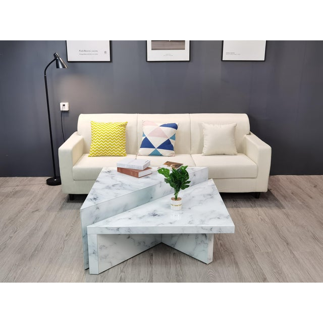 Wood Grace Modern Coffee Table - a Pair For Sale - Image 7 of 8