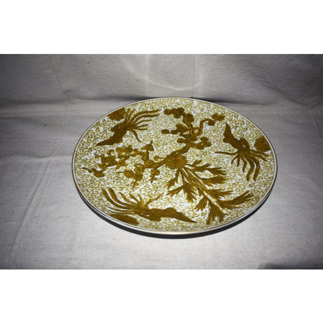 Fabulous large Gold Imari Hand Painted Plate will look great with any décor in your home. This is a pre-owned item so...