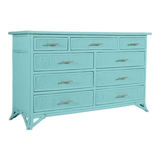 Aruba Nine-Drawer Dresser - Turquoise For Sale