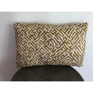 Zak + Fox Linen Print Lumbar Pillow Cover Preview