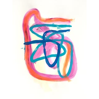 """Magenta Knot"" Original Painting on Paper For Sale"